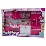 Лялькова кухня Qun Feng Toys 47.5x9.5x35 см Рожева QF26211PW