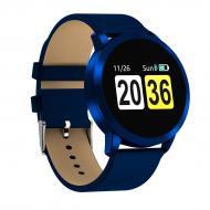 Смарт-часы HerzBand Elegance 2 с измерением давления и кожаным ремешком Синие (3837-4)