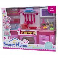 Qun Feng Toys Лялькова кухня Qun Feng Toys Рідна домівка-1 37x11.5x28.5 см Рожева (2801S) 2801S