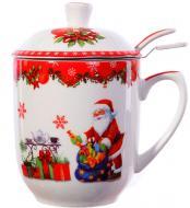 Чашка с заварником Новогодняя коллекция 300 мл 985-079 Lefard