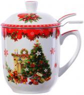 Чашка с заварником Новогодняя коллекция 300 мл 985-081 Lefard
