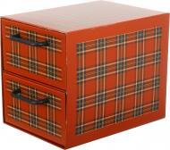 Комод картонний Miss Space Клітинка 2 відділення червоний