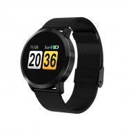 Смарт-часы HerzBand Elegance 2 с измерением давления и металлическим ремешком Черные (3837-1)