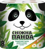 Туалетний папір Сніжна Панда Aroma 8 шт.
