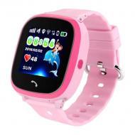 Водонепроницаемые часы Smart Baby Watch Aqua DF25-PLUS Розовые (SBWDF25PPI)