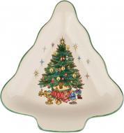 Блюдо Різдвяна ялинка 17 см 910-132 Claytan Ceramics
