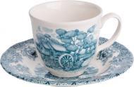 Чашка с блюдцем Мельница 200 мл 910-140 Claytan Ceramics