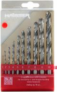 Набор сверл по металлу Haisser 1-10 мм 10 шт.
