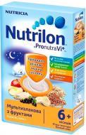Каша молочна Nutrilon від 6 місяців мультизлакова з фруктами 225 г