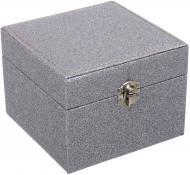 Сундук для украшений Шик 14х14х11 см серебряный