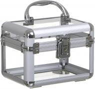 Кейс для косметики прозрачный 15х11х11 см