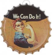 Декор настенный Крышка от бутылки жестяная We can do it d35