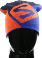Шапка Salomon Flat Spin р. one size синий с оранжевым L39046800