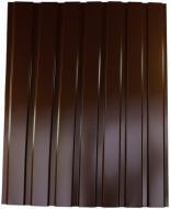 Профнастил глянцевий PSM ПР-15А 1155x1500 мм RAL 8017 коричневий