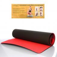 Коврик для йоги, фитнеса, спорта Feel Fit Profi 183х61 см, 6 мм Розовый