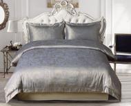 Комплект постільної білизни Delicacy2 сріблястий із синім La Nuit
