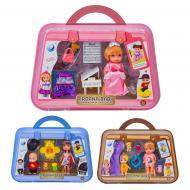 Кукольный набор Shantou A616 в чемоданчике, 3 в ассортименте