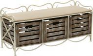 Банкетка з 3 ящиками 360x1050x400 мм кремовий