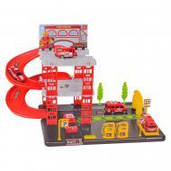 Ігровий набір Паркінг, Пожежна станція 4 машинки P1204A-3