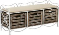 Банкетка Le-Puf с 3 ящиками 360x1050x460 мм белый
