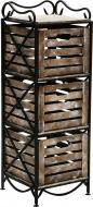 Етажерка Le-Puf з 3 ящиками 1000x360x360 мм чорний