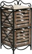 Этажерка Le-Puf с 2 ящиками 760x360x360 мм черный