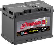 Акумулятор автомобільний A-MEGA Premium 74А 12 B «+» праворуч