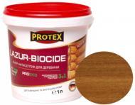 Лазурь-антисептик Protex 3 в 1 дуб шелковистый мат 1 л