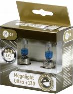 Лампа галогенна GENERAL ELECTRIC Megalight Ultra +130% (53110) H11 PGJ19-2 12 В 55 Вт 2 шт