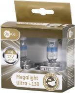 Лампа галогенна GENERAL ELECTRIC Megalight Ultra +130% (50440XNU) H4 P43t 12 В 60/55 Вт 2 шт