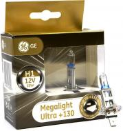 Лампа галогенна GENERAL ELECTRIC Megalight Ultra +130% (50310XNU) H1 P14.5s 12 В 55 Вт 2 шт
