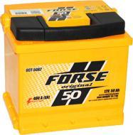 Акумулятор автомобільний Forse СНД 50А 12 B «+» праворуч