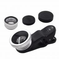 Набор объективов Primo Lens Silver 3 в 1 Macro рыбий глаз объектив-конвертер (3274-11197a)
