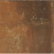 Клинкерная плитка Dallo Rosso stopnica 30x30 Cerrad
