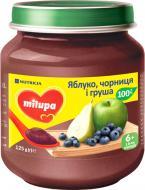 Пюре Milupa яблуко, чорниця і груша 125 г