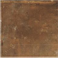 Клинкерная плитка Dallo Rosso stopnica narozna 30x30 Cerrad