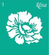 Трафарет багаторазовий самоклейкий №1 3625101 90х100 мм Rosa Talent