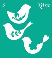Трафарет багаторазовий самоклейкий №3 3625103 90х100 мм Rosa Talent