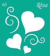 Трафарет багаторазовий самоклейкий №41 3625141 90х100 мм Rosa Talent