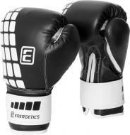 Боксерские перчатки Energetics 225550 6oz черный с белым