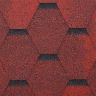 Бітумна черепиця  RoofOK Сота червона 3 кв.м
