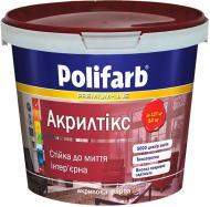 Краска акриловая Polifarb Акрилтикс мат белый 1.4кг