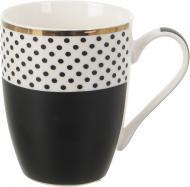 Чашка Polka Dot Black 300 мл Fiora