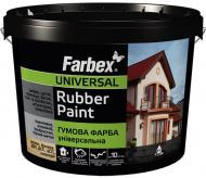 Фарба гумова водоемульсійна Farbex RAL6018 мат світло-зелений 6кг