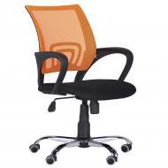 Кресло AMF Art Metal Furniture ВебХром Tilt спинка-сетка черный/оранжевый