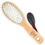 Щітка для волосся Top Choice овальна з дерев'яним корпусом колір в асортименті (4896)