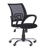 Крісло AMF Art Metal Furniture ВебХром Tilt спинка-сітка чорний