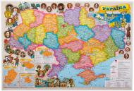 Підкладка для письма Карта М1:2 200 000 А2 ламінована 65х45 см