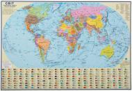 Підкладка для письма Політична карта світу М 1:51 000 000 А2 65х45 см