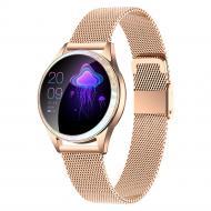 Умные часы King Wear KW20 Metal с тонометром Золотой (swkingwkw20mego)